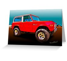 Ford Bronco Classic from VivaChas Hot Rod Art Greeting Card
