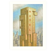 Bauhaus Hotel Art Print