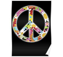 Peace Symbol Hippie 3 Poster