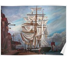 Drying Sails in Dock  Poster