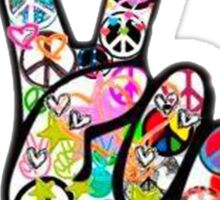 Peace Hippie Victory Fingers Sticker