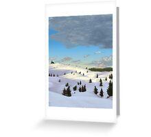 Winter landscape (I) Greeting Card