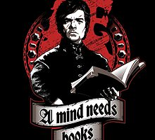 A Mind Needs Books (Red) by Inaco