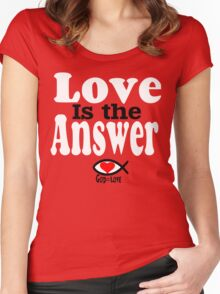 Love is the Answer; God is Love - white Women's Fitted Scoop T-Shirt