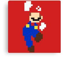 Mario pixel Canvas Print