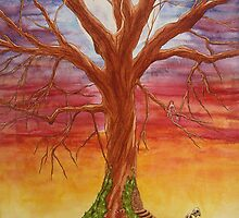 """""""Moonlit Fairy Tree"""" by WildEthereal"""