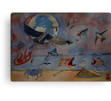 Flight of the Heron Canvas Print