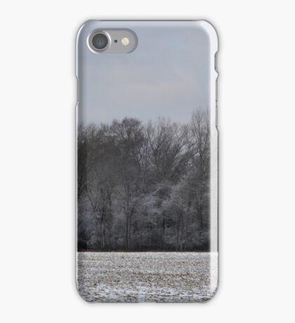 SNOW IN THE CORN FIELD iPhone Case/Skin