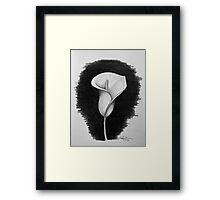 1 Hour Sketch - Lily Framed Print