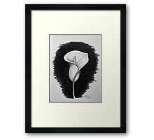 1 Hour Sketch - Lily Framed Print