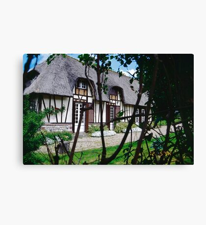 Paysages Normandie LOVE  landscapes 22 (c)(t) canon eos 5 by Olao-Olavia / Okaio Créations   1985 Canvas Print