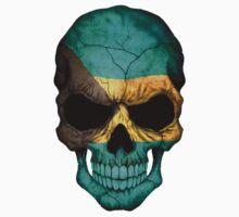 Bahamas Flag Skull by Jeff Bartels