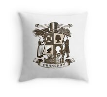 Grantham coat of arms (sepia) Throw Pillow