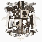 Grantham coat of arms (sepia) by earlofgrantham