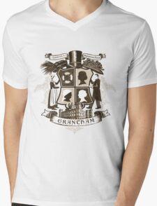 Grantham coat of arms (sepia) Mens V-Neck T-Shirt