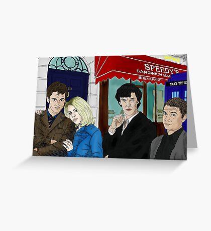 WhoLock On Baker Street Greeting Card