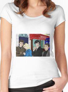 WhoLock On Baker Street Women's Fitted Scoop T-Shirt