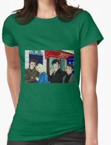 WhoLock On Baker Street Womens Fitted T-Shirt