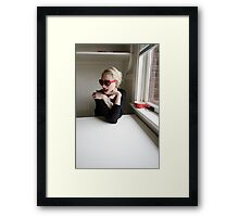 Coffee in Black and Red Framed Print