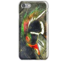 Wood Duck Checker Plate - Mallard Down iPhone Case/Skin