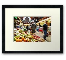 English Market Framed Print