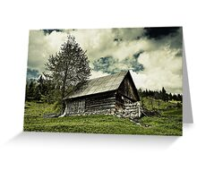 Old barn and moody sky Greeting Card