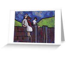 Children on a wall Greeting Card