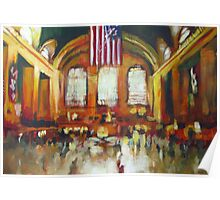 Grand Central Train Station New York City NYC Poster