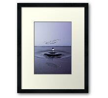 Aerial Splash Framed Print