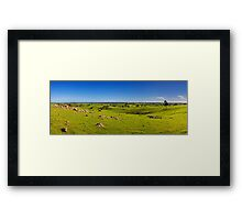 The rolling fields of Strathalbyn Framed Print