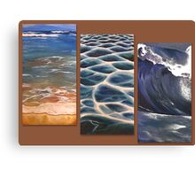 Beach triptych Canvas Print