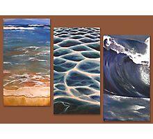 Beach triptych Photographic Print