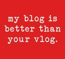 my blog is better than your vlog - typewriter style by emilyandhermusi