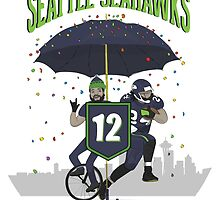Seattle Seahawks Coat of Arms by LilCurious