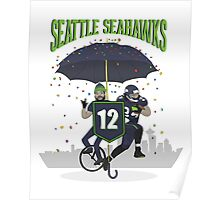 Seattle Seahawks Coat of Arms Poster