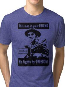ENGLISH SOLDIER Tri-blend T-Shirt