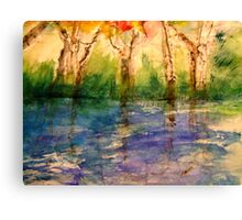Sitting by the River Canvas Print