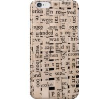 Woven Words iPhone Case/Skin