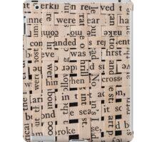 Woven Words iPad Case/Skin