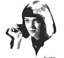 Mia Wallace by burro by burrotees