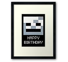 Scull Birthday Greeting Framed Print