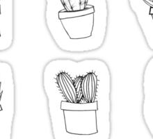 Minimal Cactus Print - Hand Drawn Sticker