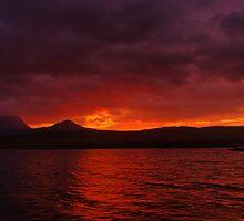 Jura Sunset by Alisdair Gurney