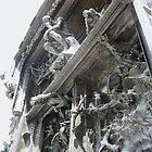 closeup of Gates of Hell, Rodin Museum, Paris by chord0