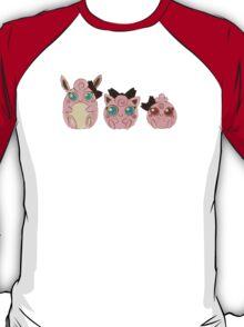 Pokemon - Puffs in a Row Design T-Shirt