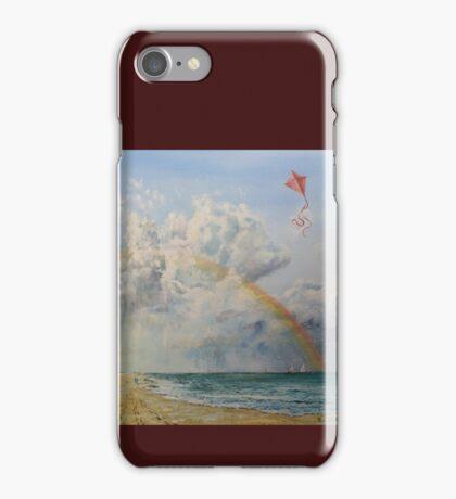A rainbow over Sandbanks iPhone Case/Skin