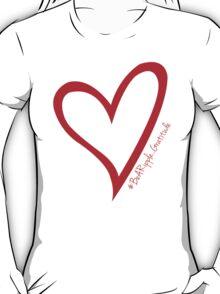 #BeARipple...Gratitude Large Red Heart T-Shirt