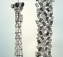 Lattuce Tower with Cell Phones by Rob Pettit