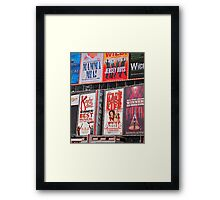 Bright Broadway Framed Print