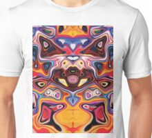 Faces In Abstract Shapes 7 Unisex T-Shirt